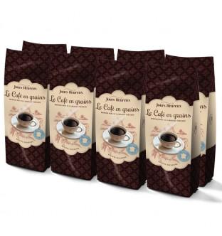 Le lot de 8 paquets de Café...